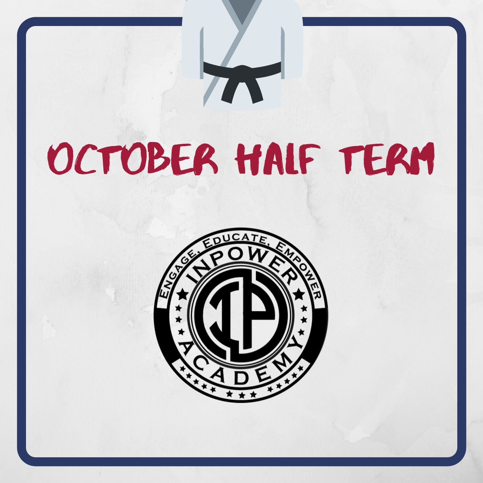 October Half term Martial arts program